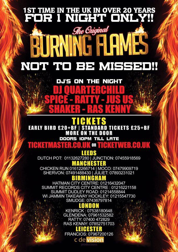 Burning Flames Birmingham 2017