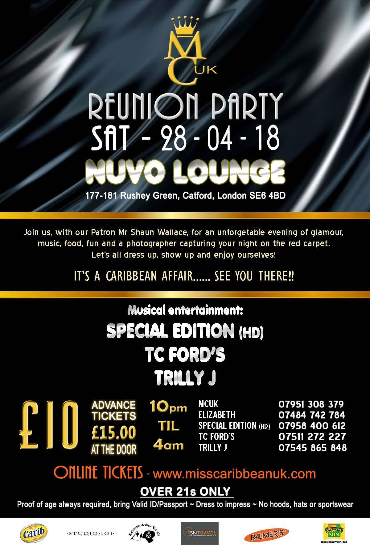 Miss Caribbean UK Reunion Party