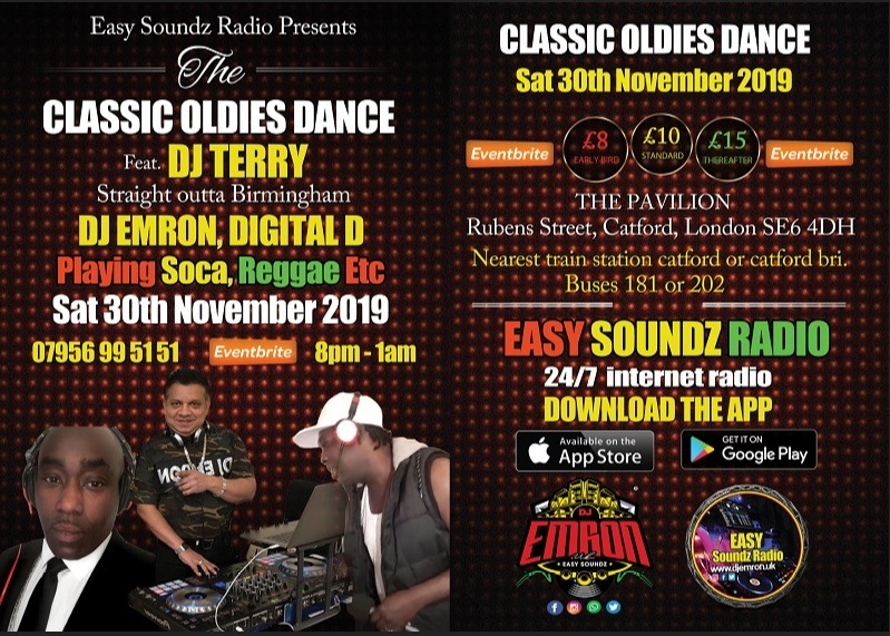 Oldies Dance Flyer Nov 2019