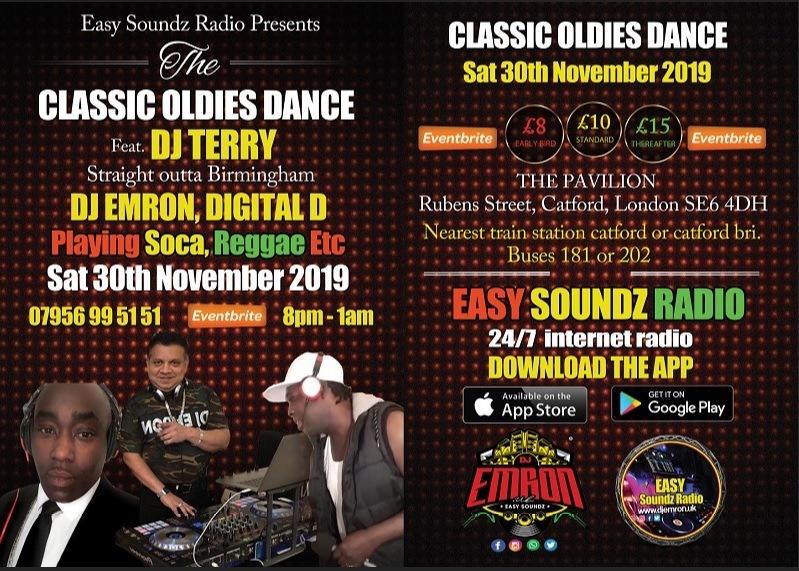 Oldies Dance Flyer Nov 2019