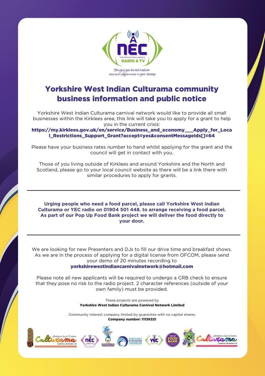 Community Diary Business Notice