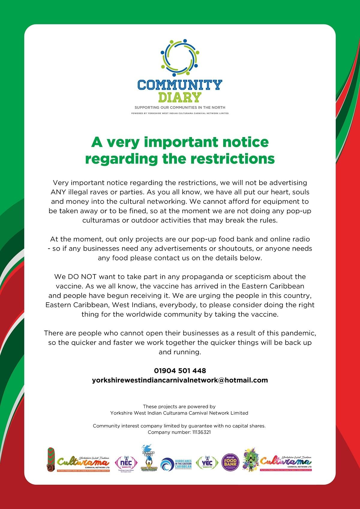 COVID Vaccine Notice