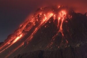 Soufriere Volcano Montserrat Erupting