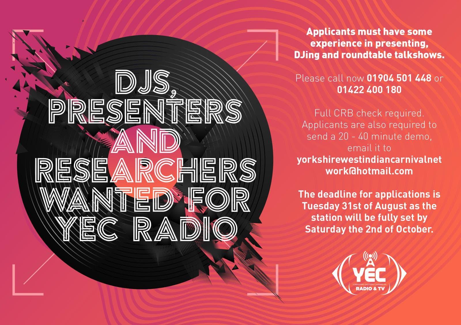 YEC Radio DJ's Wanted