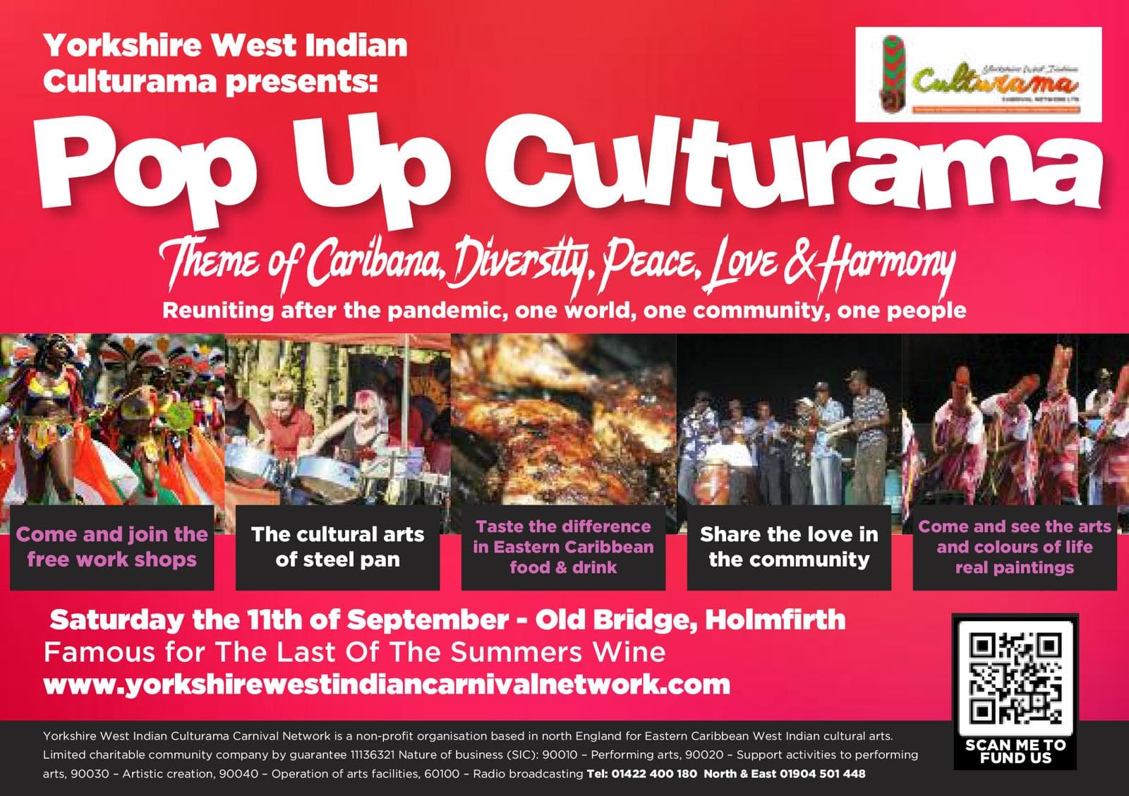 PopUp Culturama Carnival in Holmfirth September 2021