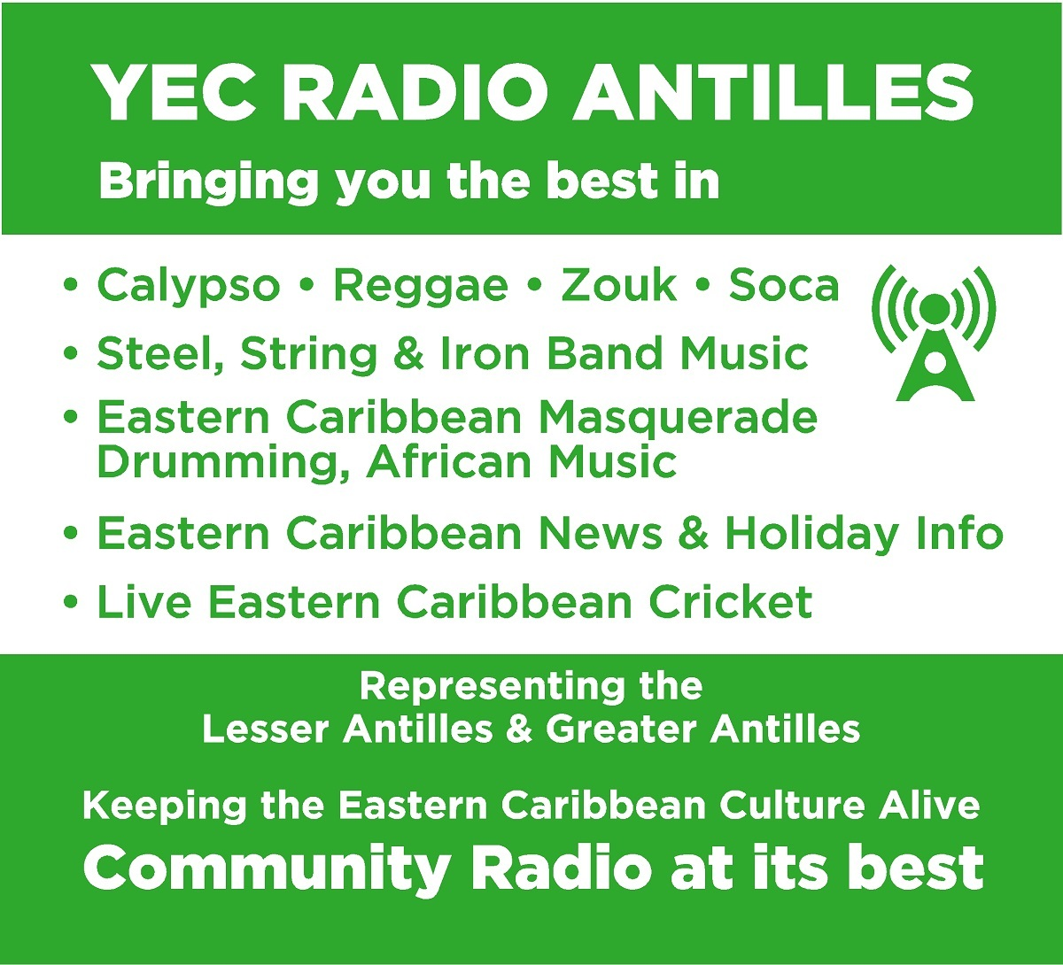 YEC Radio Antilles Poster